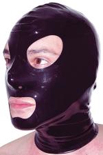 Cagoule latex - Cagoule latex haute qualit�, ouvertures pour les yeux et la bouche et orifices de respiration aux narines.