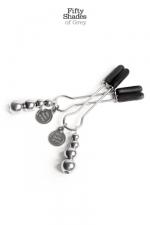 Bijoux de seins réglables - Fifty Shades Of Grey - 1 Paire de pinces à seins réglables de la collection officielle Fifty Shades of Grey.
