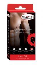 8 Préservatifs Perfect Size Lion 60 - Avec Perfect size Lion de 60 mm de diamètre, choisissez des préservatifs parfaitement ajustés à votre taille.