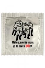 Préservatif humour - Je La Mets Ou - Préservatif  Je La Mets Ou , un préservatif personnalisé humoristique de qualité, fabriqué en France, marque Callvin.