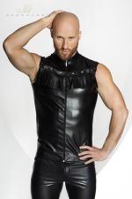 Vest STRONGER Rawhide - Veste sans manches en faux cuir, décorée de franges dans le plus pur style Cowboy. HiHa !