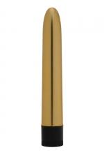 Vibromasseur Golden Boy - Dorcel - Beau, lisse, simple et efficace, le vibro Golden Boy est idéal pour les débutantes et indispensable pour les amatrices de sextoys.